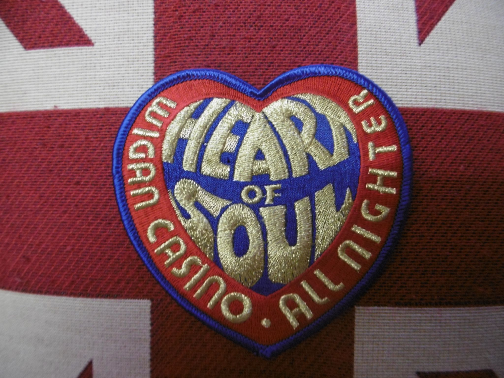 Wigan Casino Heart Patch