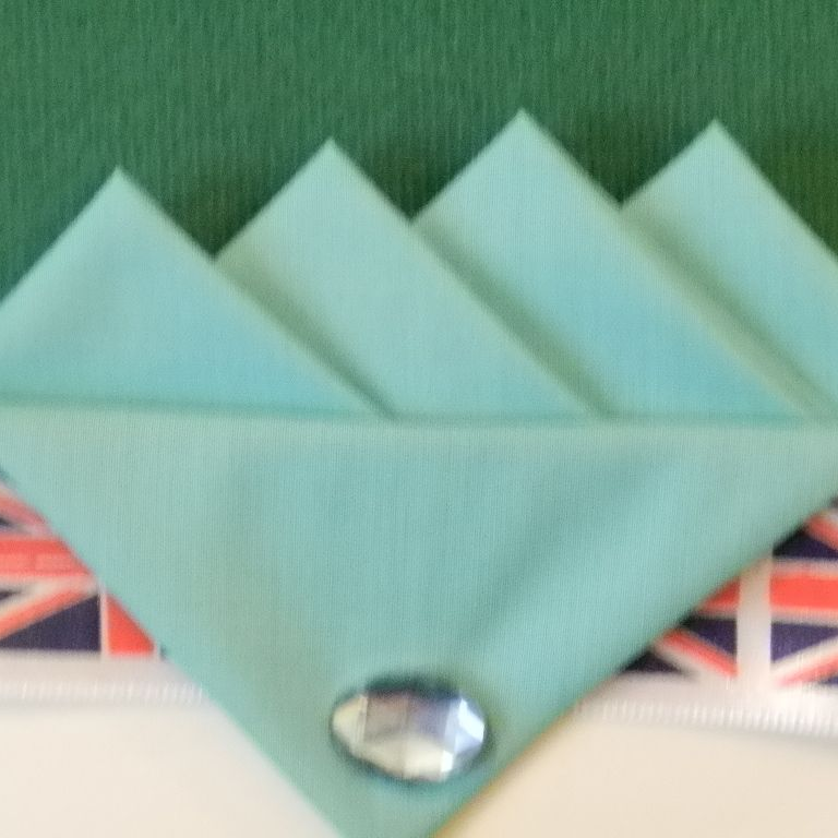 Blue (Turquoise) Four Point Pocket Hankie & Pin