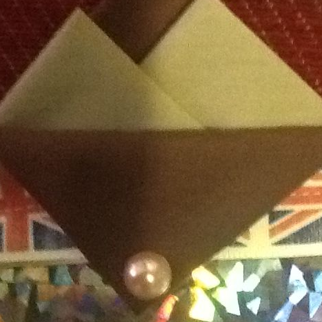 Brown and Cream Hankie With Brown Flap and Pin