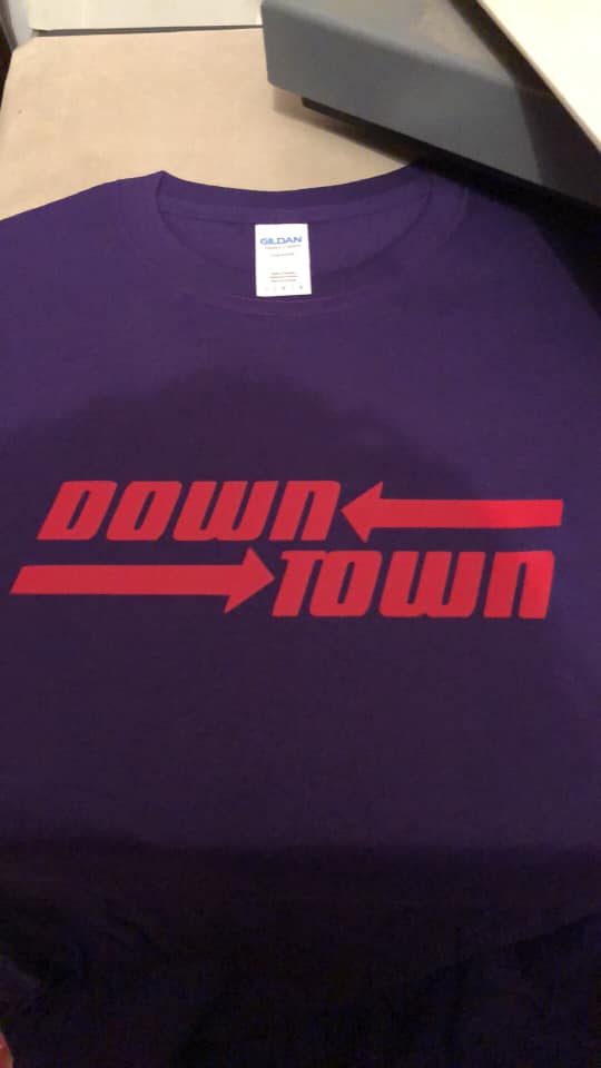 Down town Tshirt Purple and red