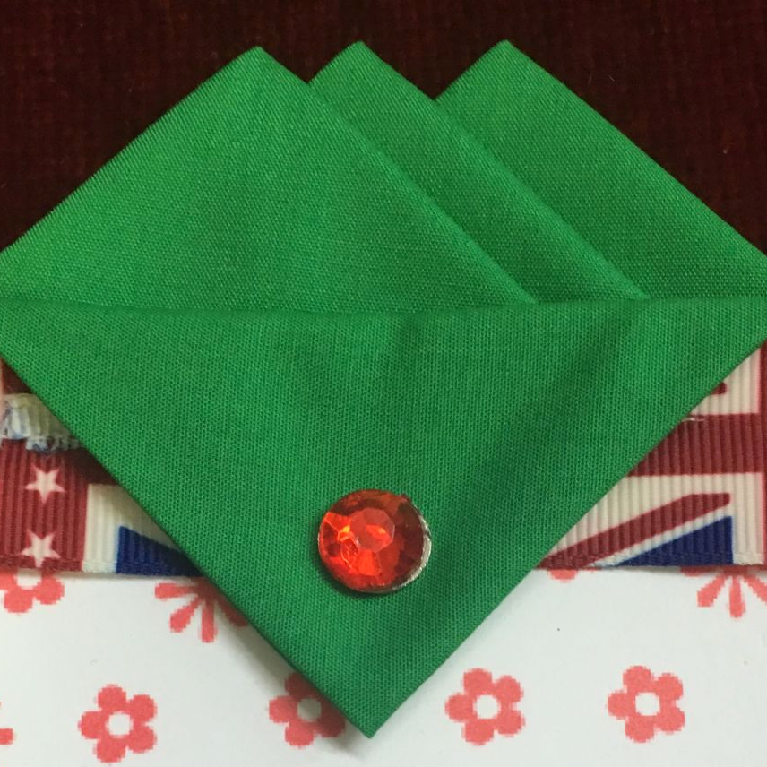 Green (Irish Green) Three Point Pocket Hankie & Pin