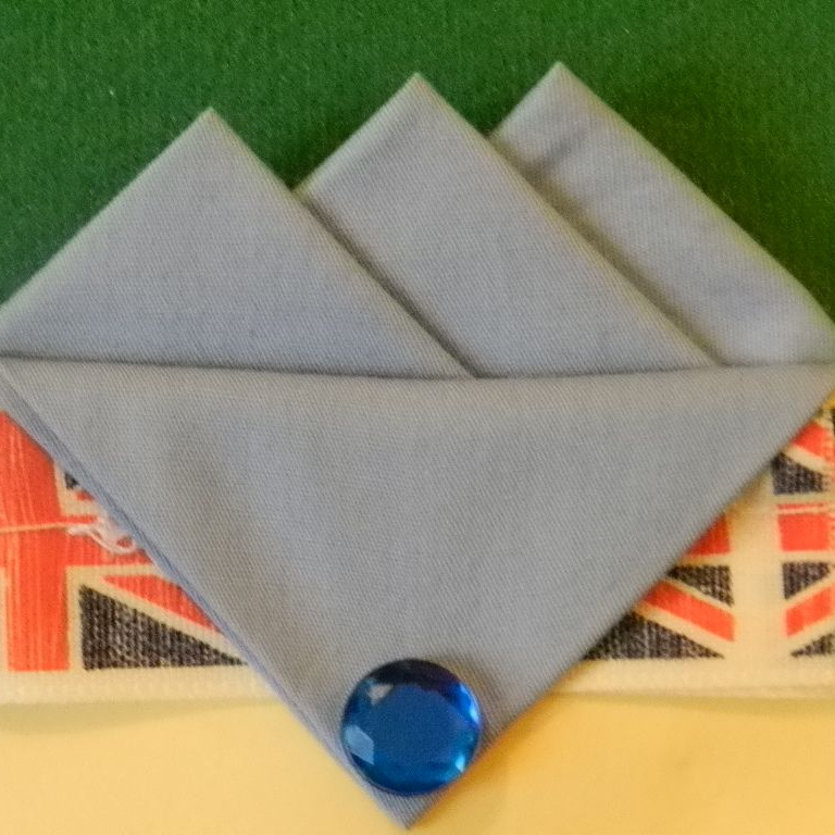 Grey Three Point Handmade Pocket Hankie
