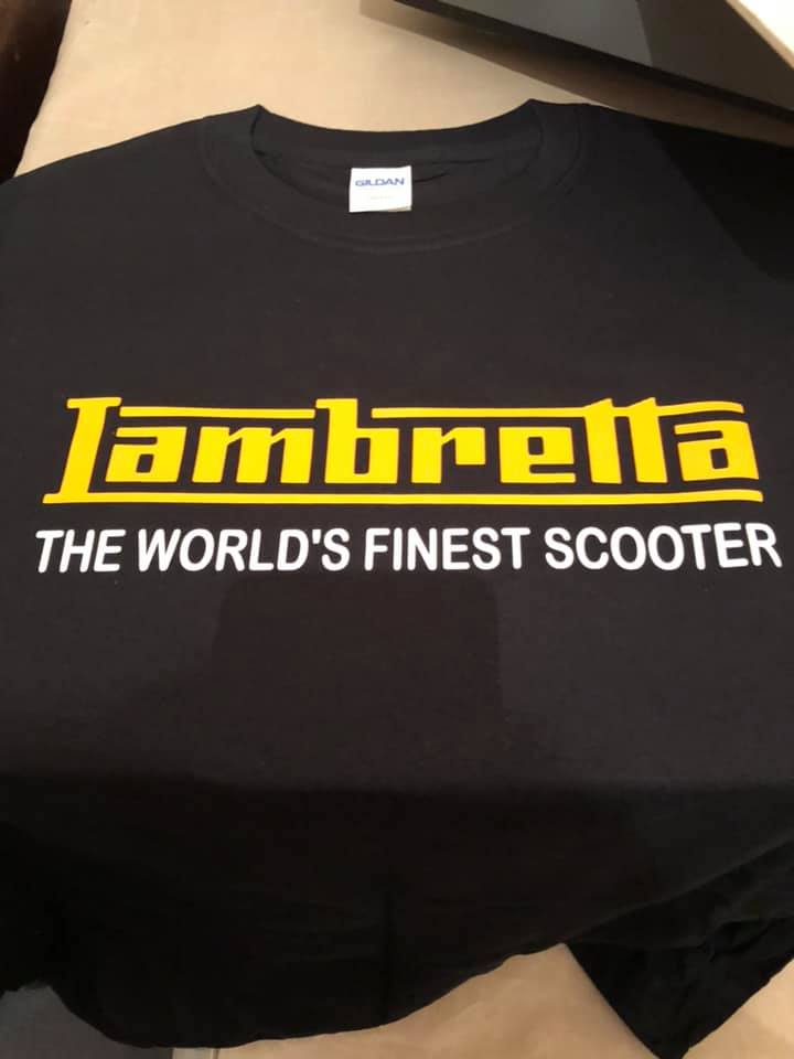Lambretta Yellow on Black