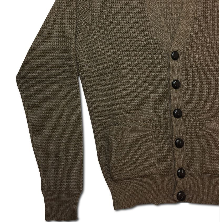 New Waffle Cardigan light brown