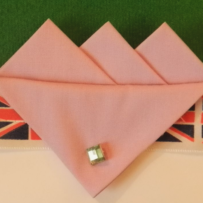 Pink (Rose) Three Point Pocket Hankie & Pin