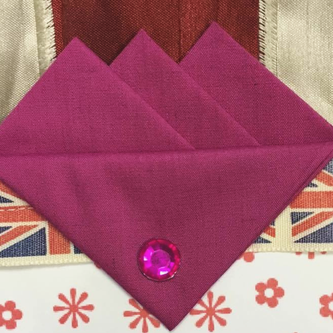 Plum Pink Three Point Pocket Hankie & Pin