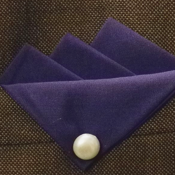Purple (Darkest) handmade Three point Hankie