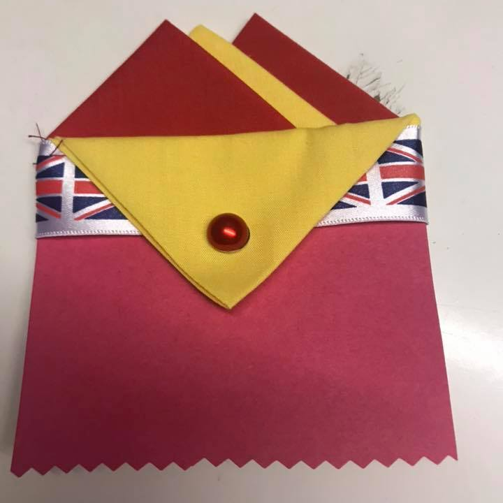 Red & Yellow Pocket Hankie with Yellow Flap & Pin