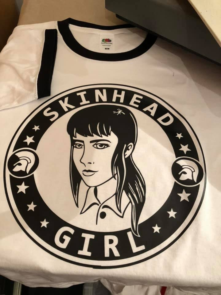 SKINHEAD GIRL White with Black