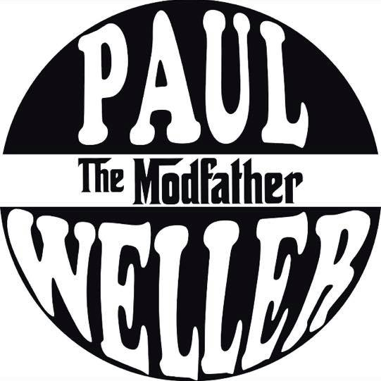 Weller Modfather White & Black Vinyl Mod T-Shirt