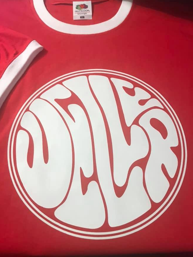 Weller Red Ringer & White Vinyl Mod T-Shirt (Red)