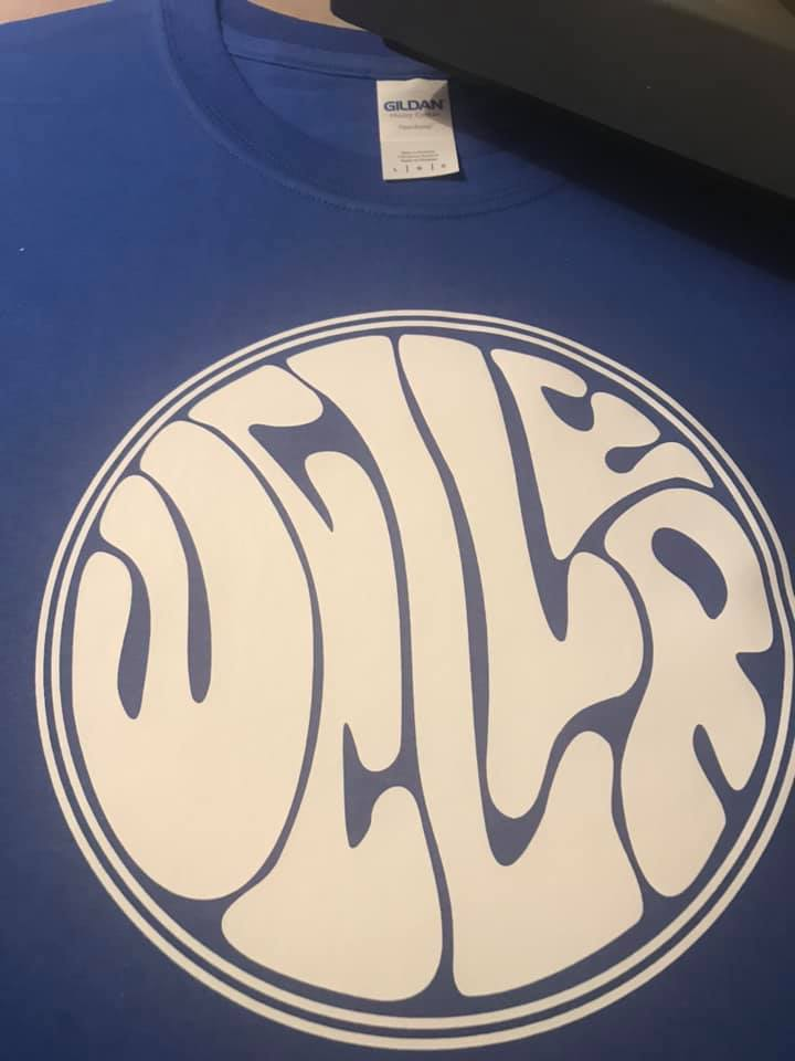 Weller Royal Blue Tshirt white vinyl