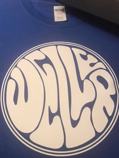 Weller Royal Blue & White Vinyl Mod T-Shirt