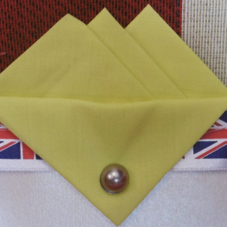 Yellow (Baby Yellow) Three Point Pocket Hankie & Pin